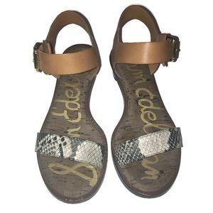 Sam Edelman Trina Block Leather Heeled Sandals